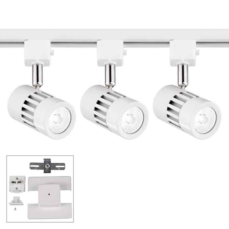 Leland 3-Light White LED Floating Canopy Linear Track Kit