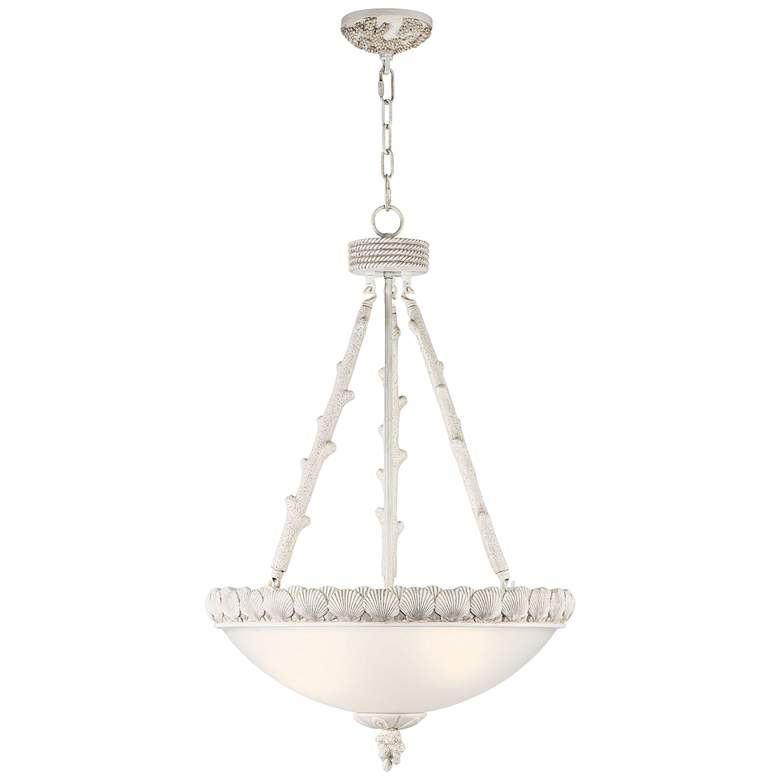 """Sealife 21"""" Wide Antique and Glass Pendant Light"""