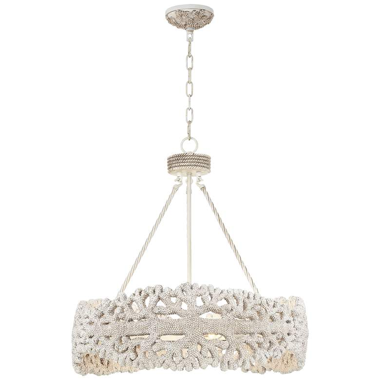 "Coral 25"" Wide Natural Round Chandelier"