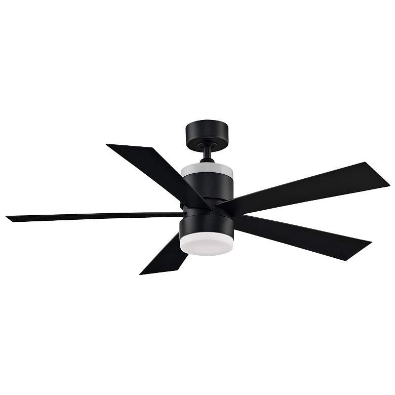 "52"" Fanimation Torch Black Damp LED Ceiling Fan"