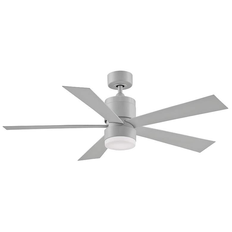 "52"" Fanimation Torch Matte White Damp LED Ceiling Fan"