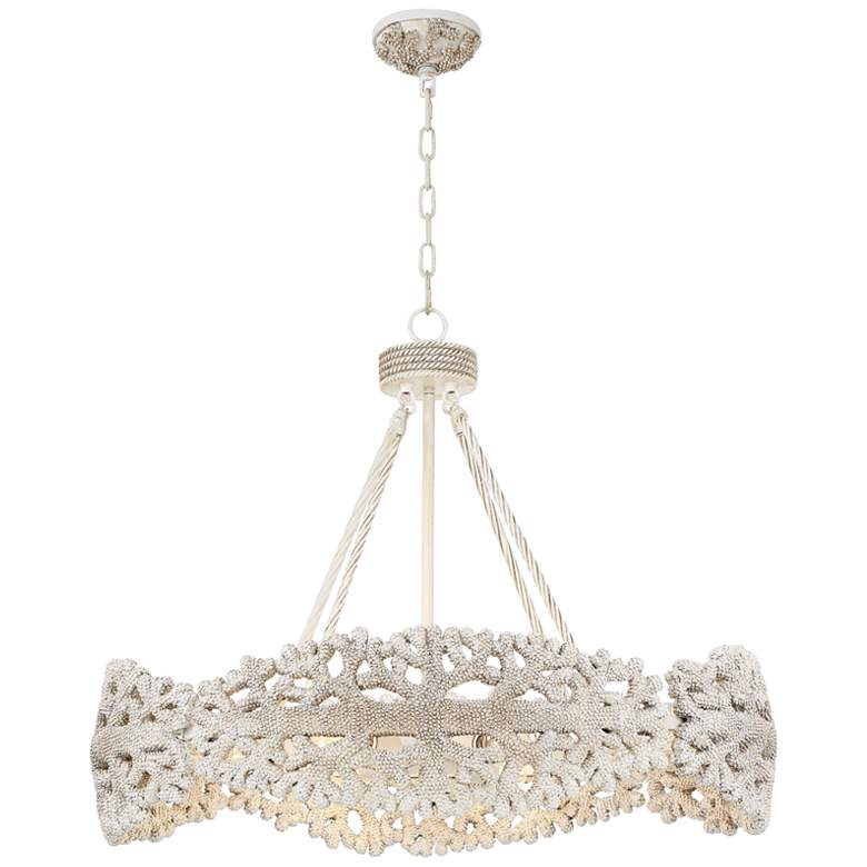 """Coral 32"""" Wide Natural Oval Chandelier"""