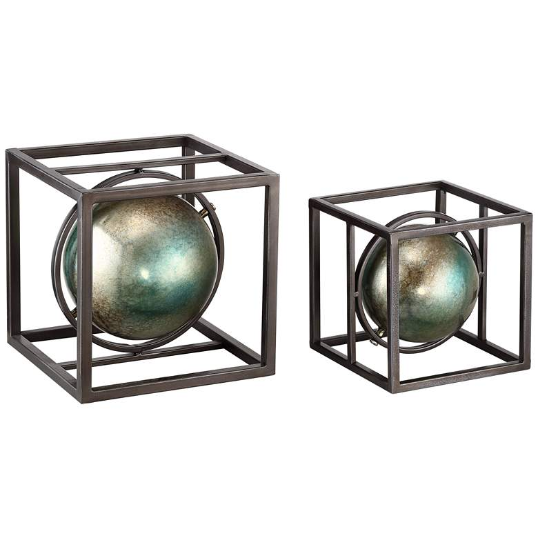 Cago Set of 2 Metal Cubes Table Decor