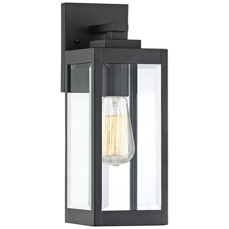 "Quoizel Westover 14 1/4"" High Earth Black Outdoor Wall Light"