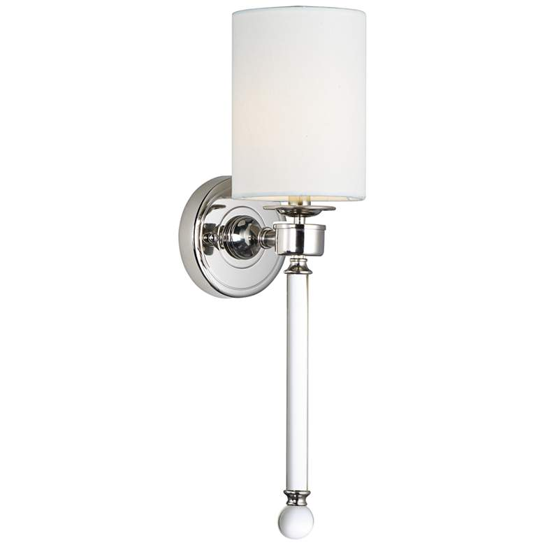"""Maxim Lucent 21"""" High Polished Nickel Wall Sconce"""