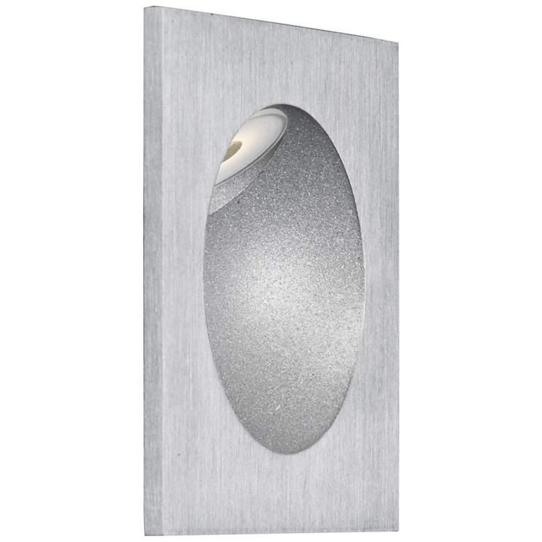 """ET2 Alumilux 3 1/4"""" Square Satin Aluminum LED"""