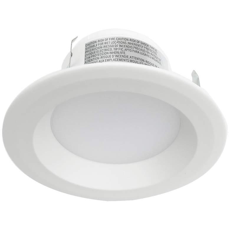 "4"" Plain White 11 Watt Dimmable 3000K LED Retrofit Trim"