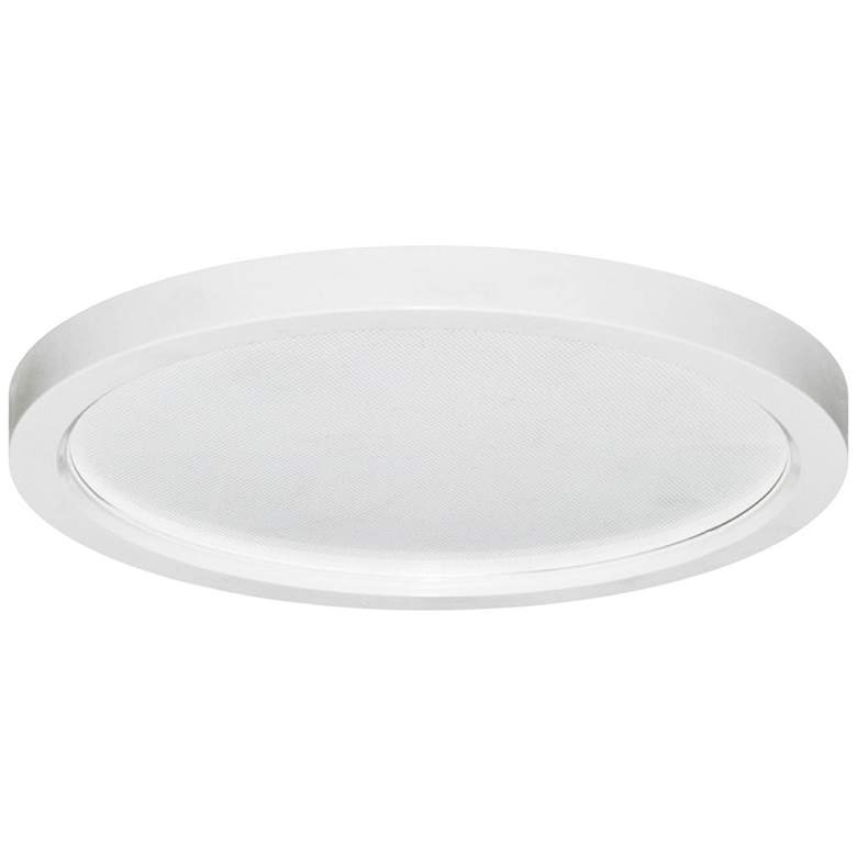 "Pancake Disc 5 1/2"" Round White LED Outdoor Ceiling Light"