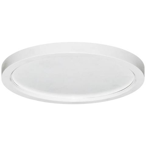 "Pancake Disc 5 1/2"" Round White LED Outdoor Ceiling Light"