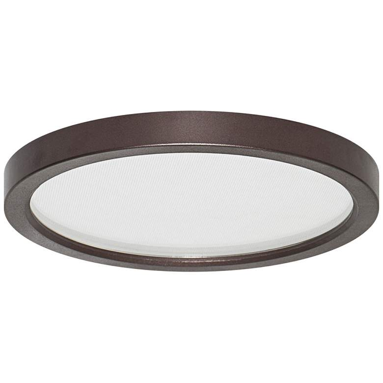 "Pancake Disc 5 1/2"" Round Bronze LED Outdoor Ceiling Light"