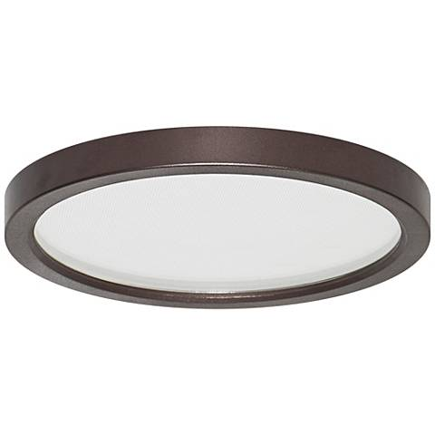 """Pancake Disc 5 1/2"""" Round Bronze LED Outdoor Ceiling Light"""