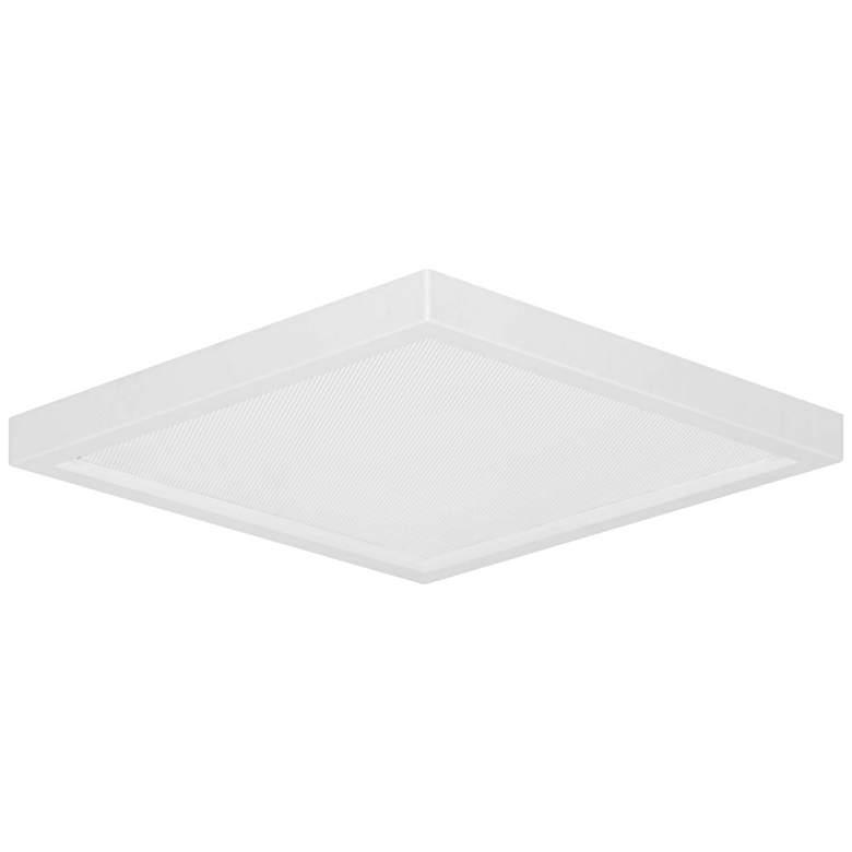 "Pancake Disc 5 1/2"" Square White LED Outdoor Ceiling Light"