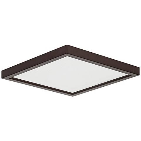 "Pancake Disc 5 1/2"" Square Bronze LED Outdoor Ceiling Light"