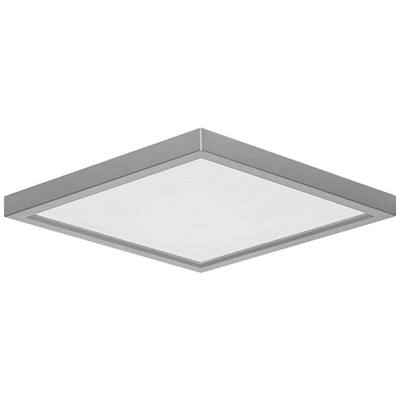 "Pancake Disc 5 1/2"" Square Nickel LED Outdoor Ceiling Light"