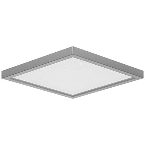 """Pancake Disc 5 1/2"""" Square Nickel LED Outdoor Ceiling Light"""