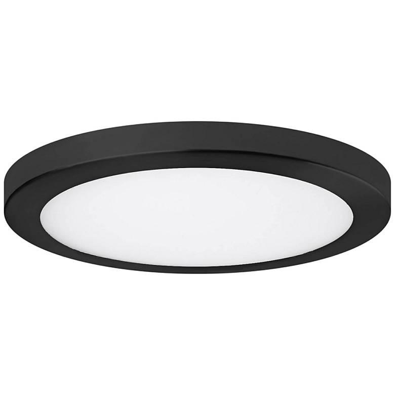 """Platter 15"""" Round Black LED Outdoor Ceiling Light"""