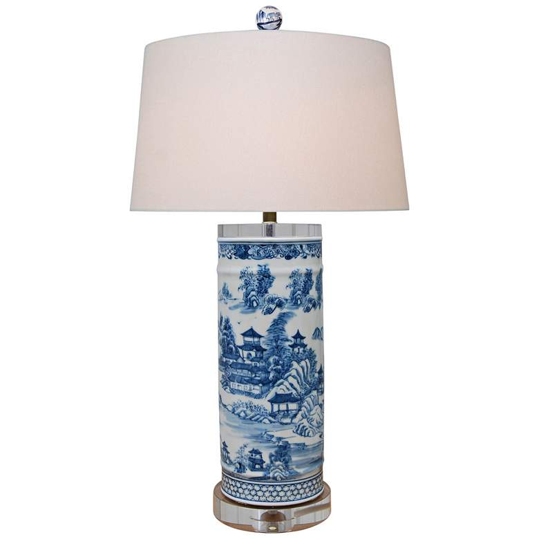 Harold Blue and White Chinoiserie Vase Table Lamp