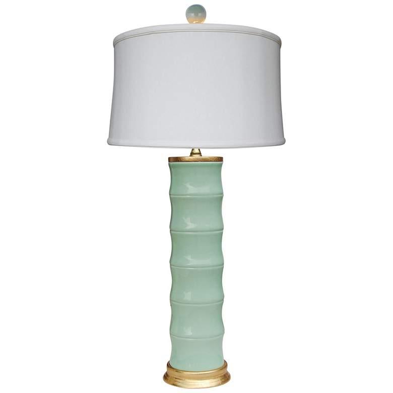 Emma Celadon Bamboo Porcelain Table Lamp