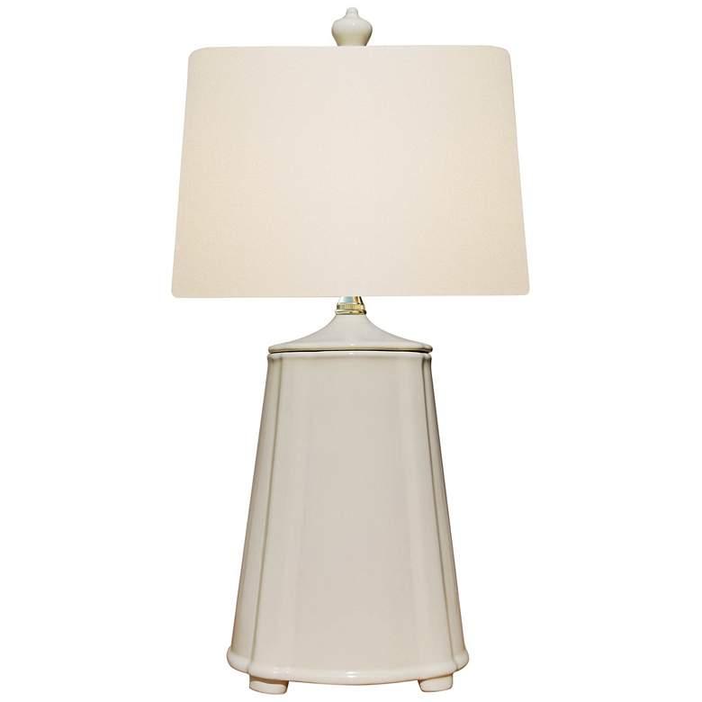 Charlotte Dove White Porcelain Accent Table Lamp