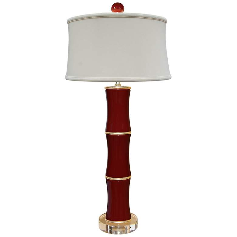 Cecily Ox-Blood Bamboo Porcelain Table Lamp