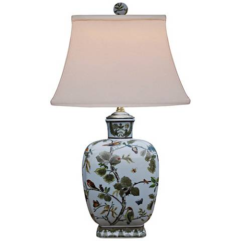 Charles Multi-Color Porcelain Vase Accent Table Lamp
