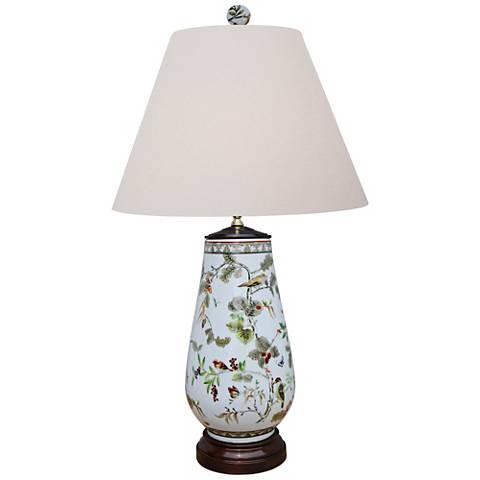 Kaede Multi-Color Porcelain Vase Table Lamp