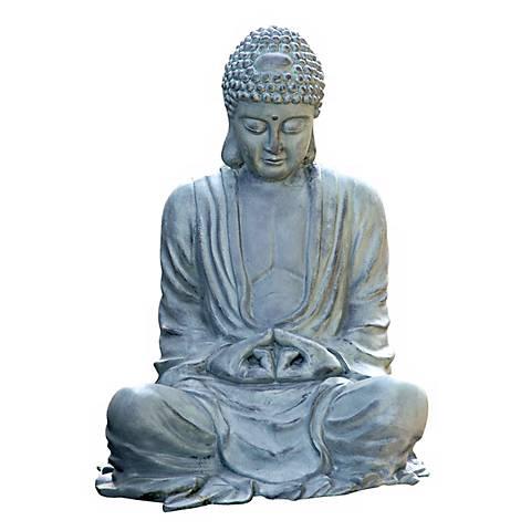 """Large Size 21 1/2"""" High Garden Buddha Statuary"""