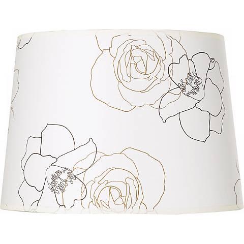 Graphic Flower Paper Lamp Shade 12x14x10 (Spider)