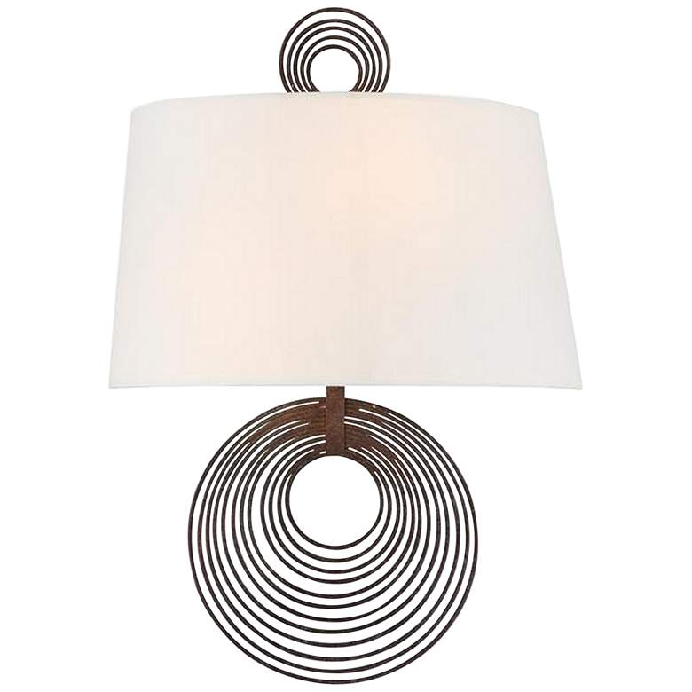 """Crystorama Doral 14"""" High Forged Bronze Wall Sconce"""