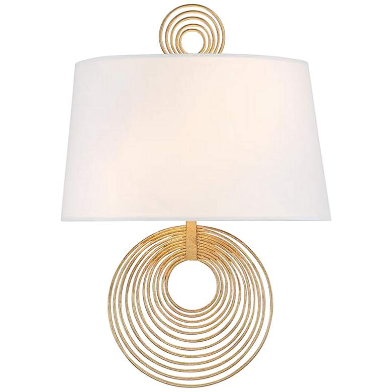 "Crystorama Doral 14"" High Renaissance Gold Wall Sconce"