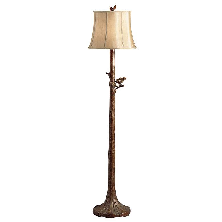 Perched Bird Tree Floor Lamp