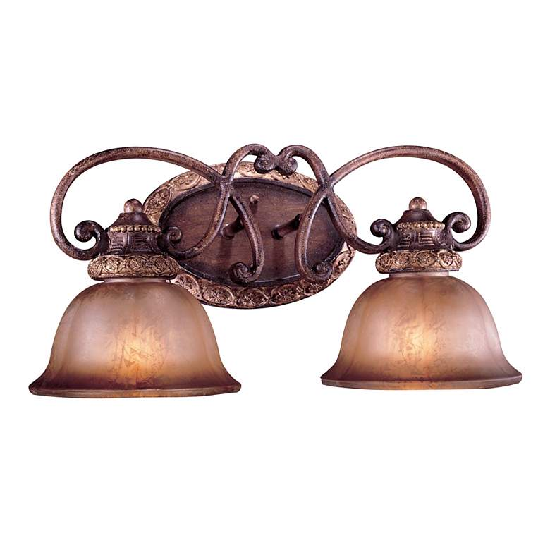 "Illuminati Collection 20"" Wide Bronze 2-Light Bath Light"