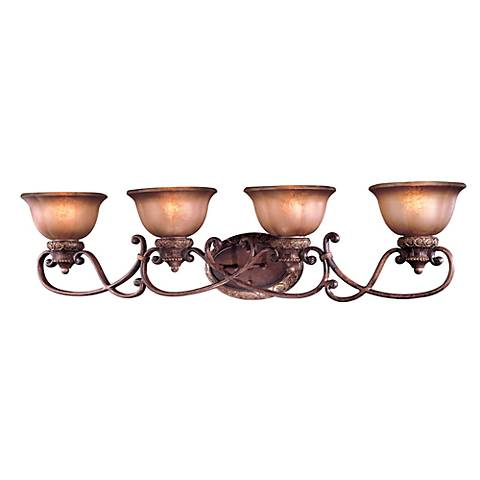 "Illuminati Collection 42"" Wide Bronze Bath Light Fixture"