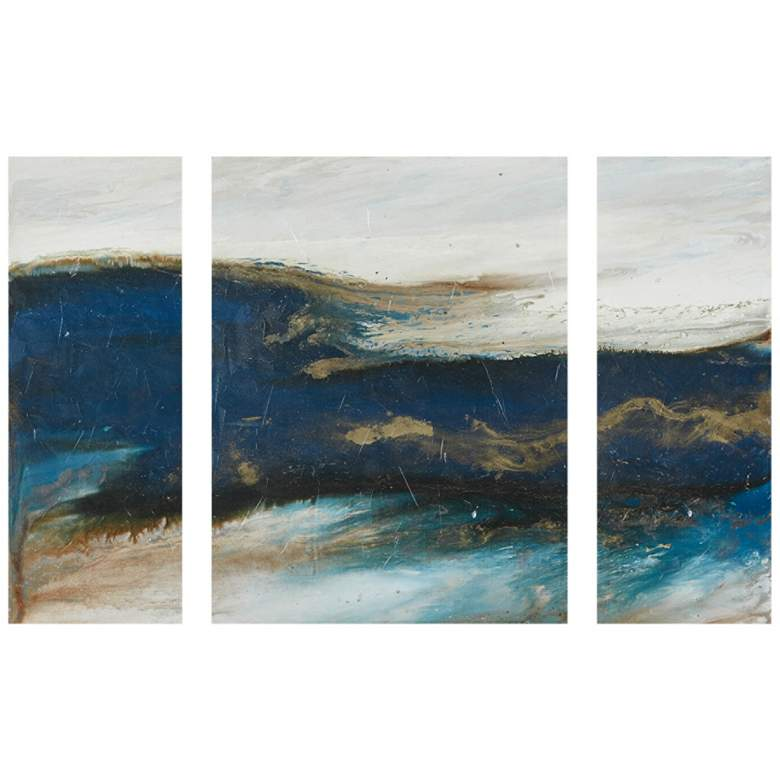 INK + IVY Rolling Waves 3-Piece Canvas Wall Art Set