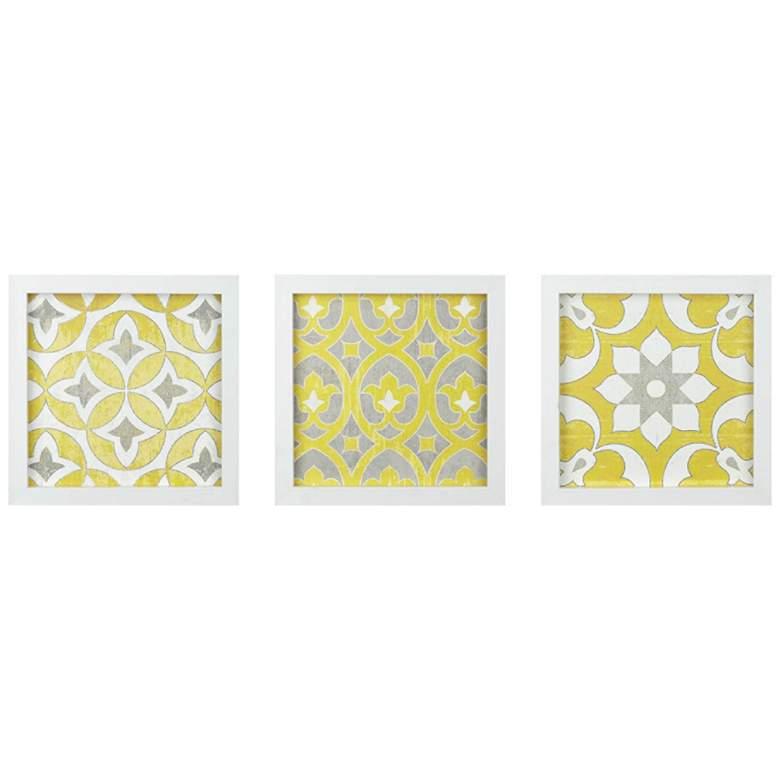 """Tuscan Tiles 12"""" High 3-Piece Framed Wall Art Set"""