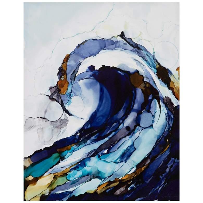 "Liquid Waves 28"" High 2-Piece Gel Coat Canvas Wall Art Set"