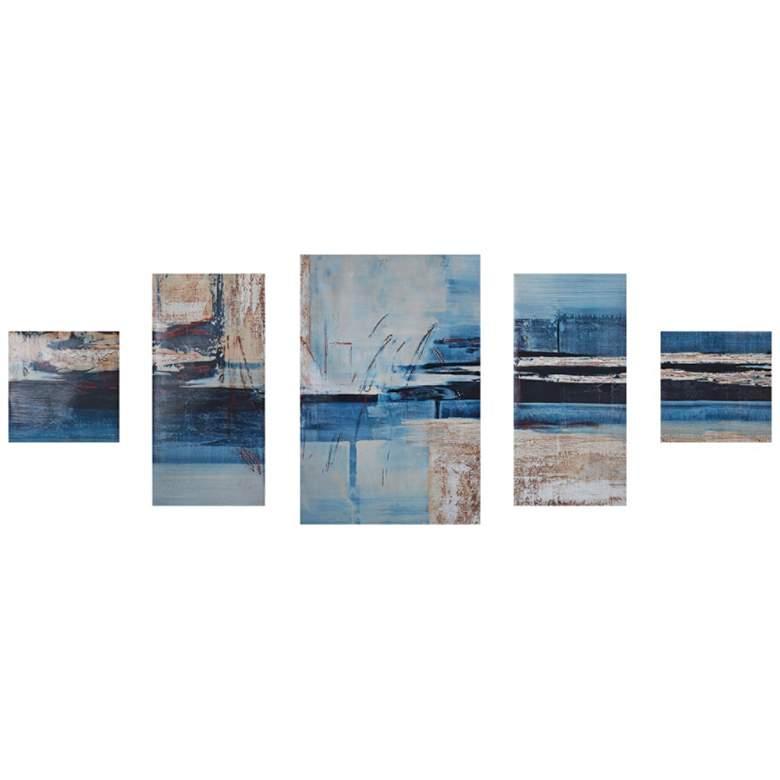 "Overseas 36""H 5-Piece Printed Gel Coat Canvas Wall Art Set"
