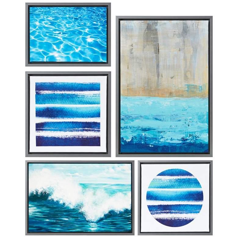 Water Tide 5-Piece Gallery Canvas Wall Art Set