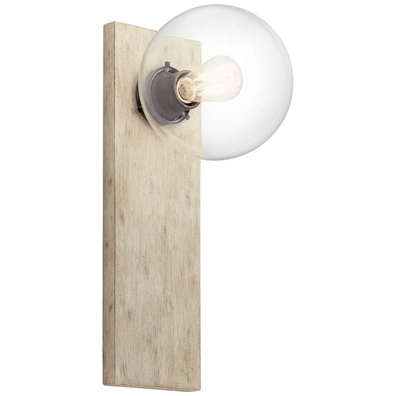 """Kichler Marquee 19 1/4"""" High White-Washed Wood Wall Sconce"""