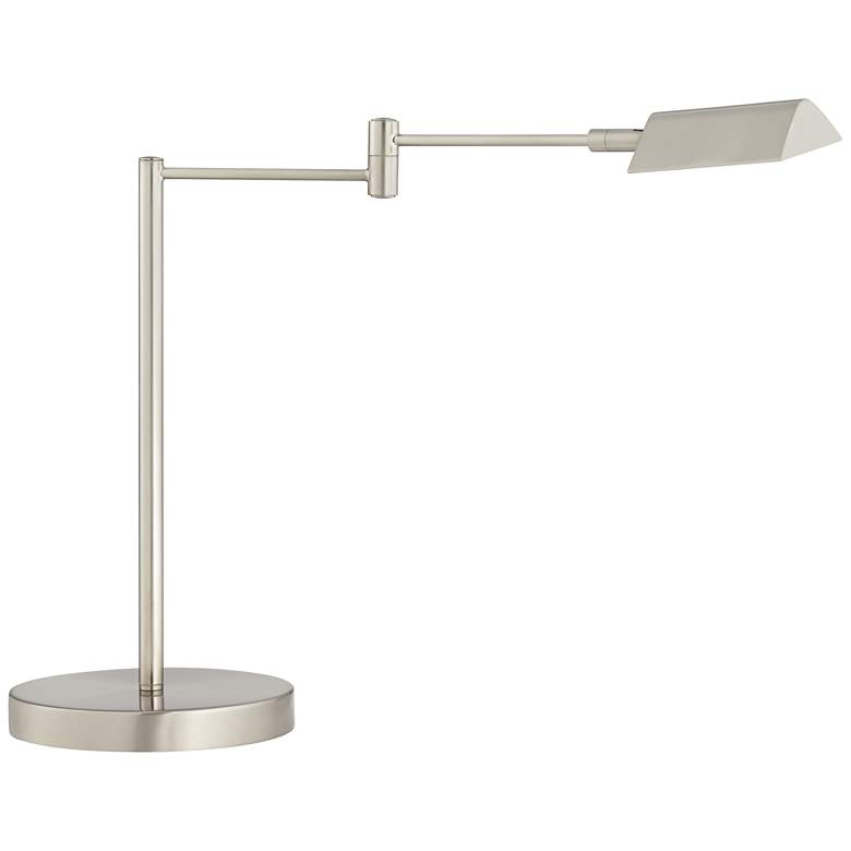 Zorion Brushed Nickel Swing Arm LED Desk Lamp with USB Port