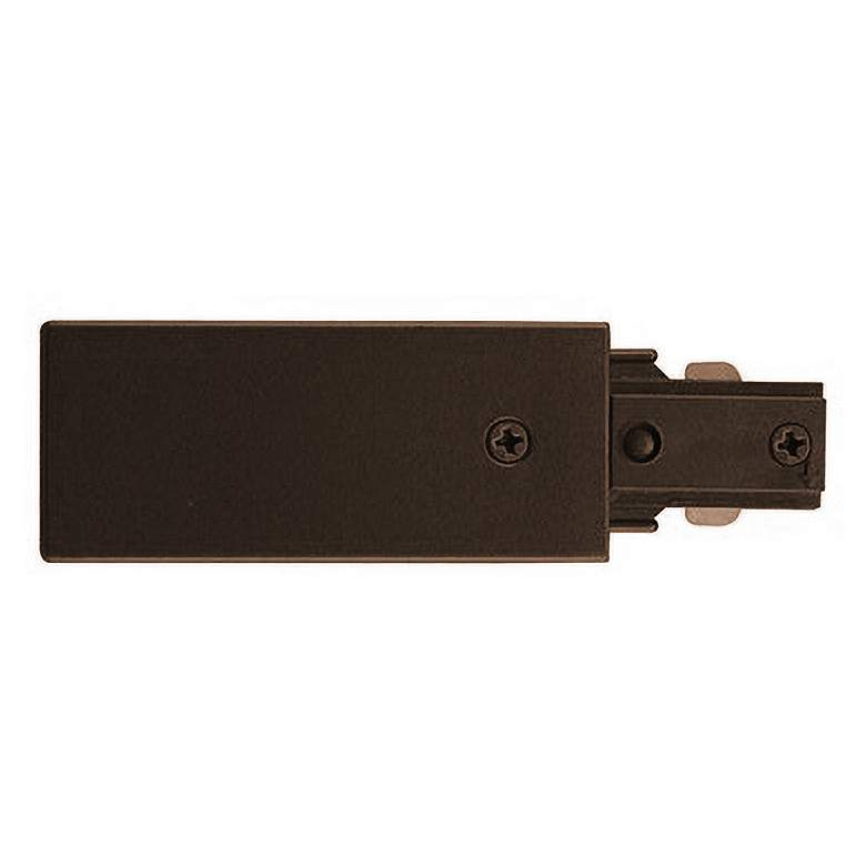 Bronze Live End Feed for Track Lighting