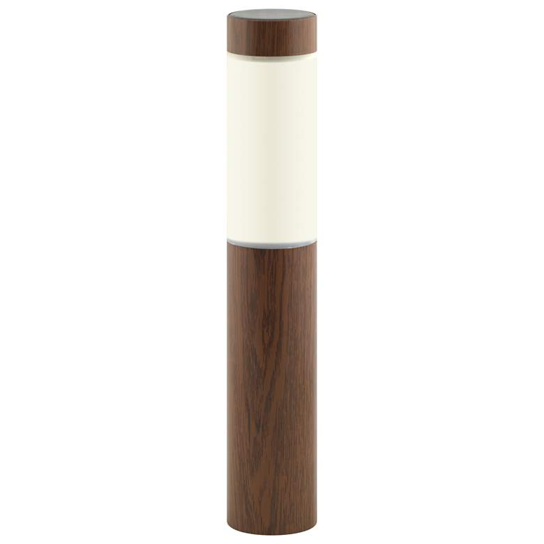 Stake Wood Grained Dusk-to-Dawn Solar Stake Light