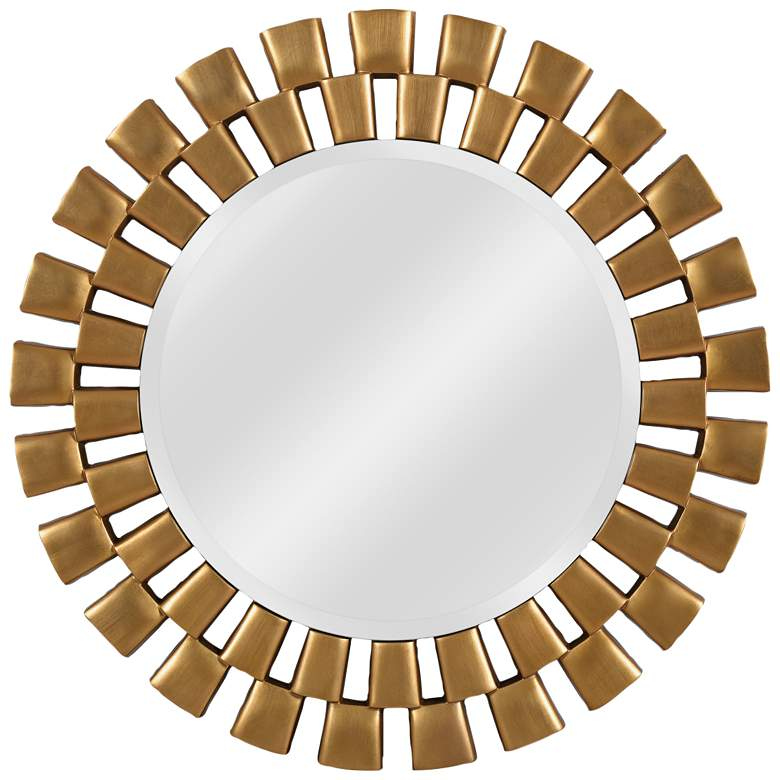 """Kenroy Home Gilbert Gold 36"""" Round Wall Mirror"""