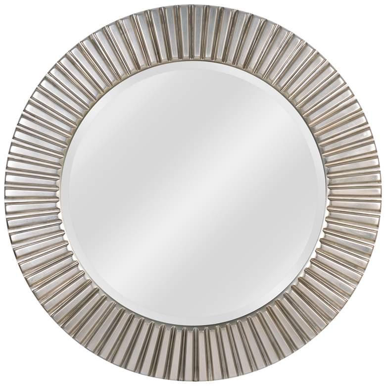"Kenroy Home North Beach Silver 34"" Round Wall Mirror"