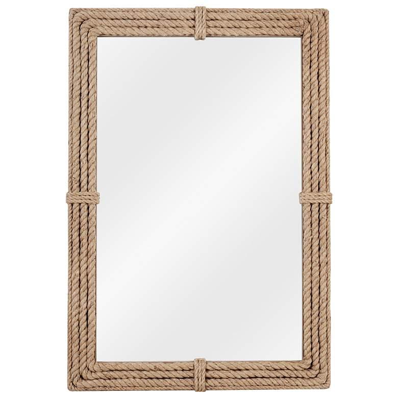 "Kenroy Home Rudy Natural Rope 28"" x 42"" Wall Mirror"