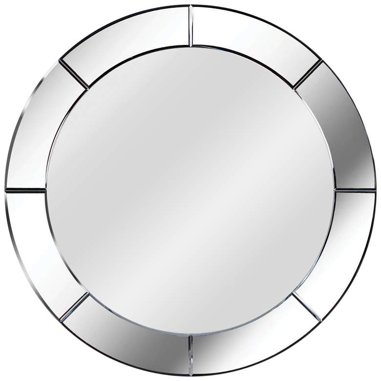 """Kenroy Home Miere Cut Glass 32"""" Round Frameless Mirror"""