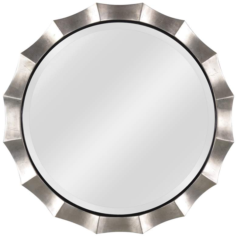 Kenroy Home Chorale Antique Silver 34 Quot Round Wall Mirror