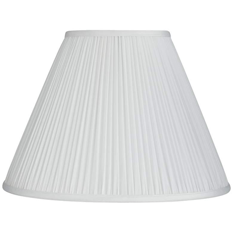 White Mushroom Pleated Empire Lamp Shade 7x16x12 (Spider)