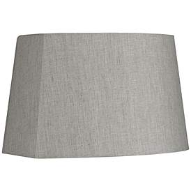 Gray Modified Oval Lamp Shade 10 12 5x11 15x10 Spider