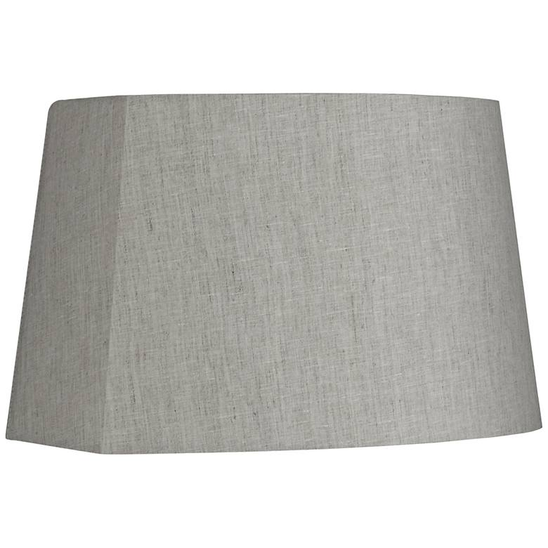 Gray Modified Oval Lamp Shade 10/12.5x11/15x10 (Spider)